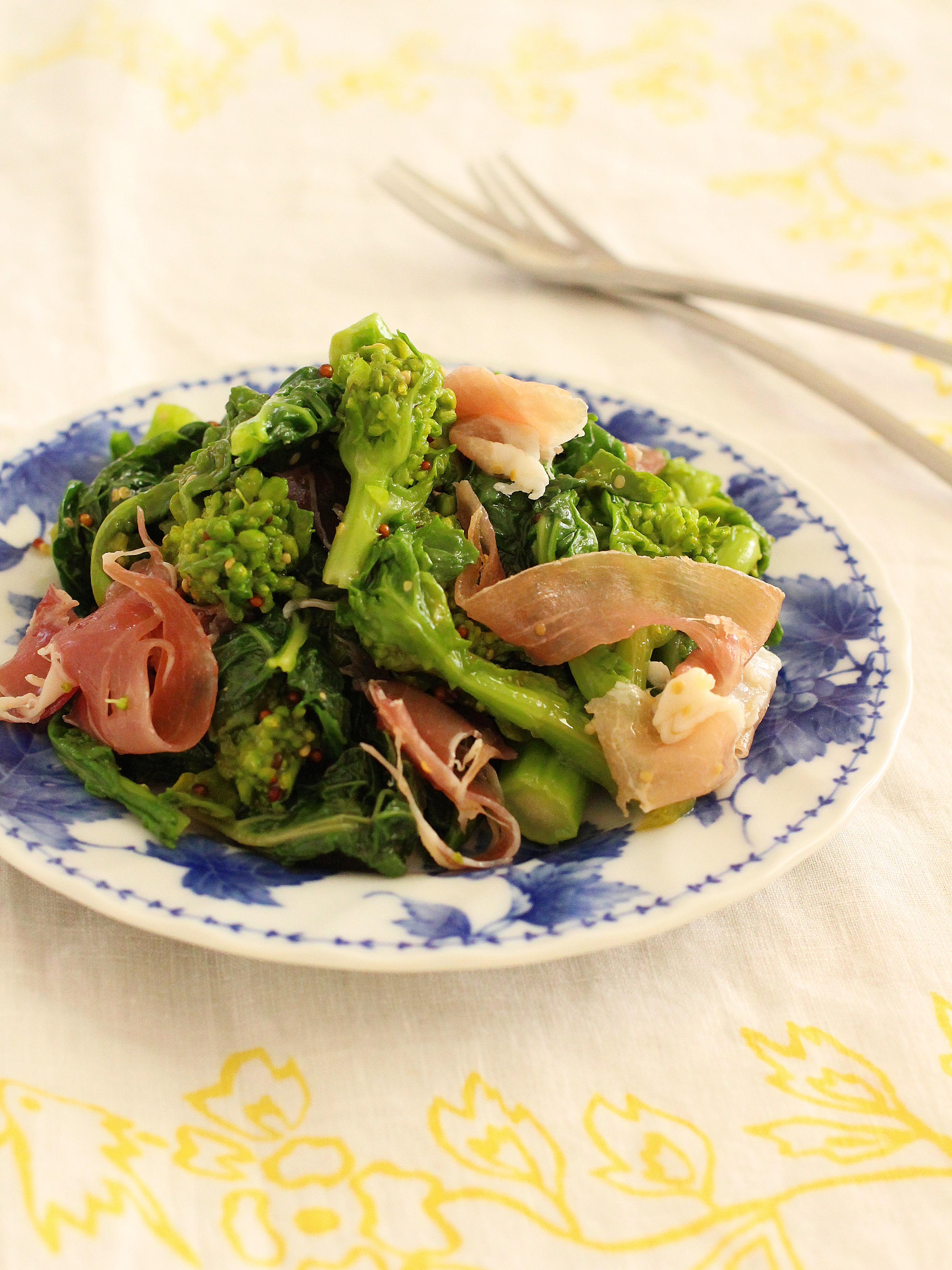 【連載;読売新聞ヨミドクター】菜の花と生ハムのマスタードサラダ&父のお祝い