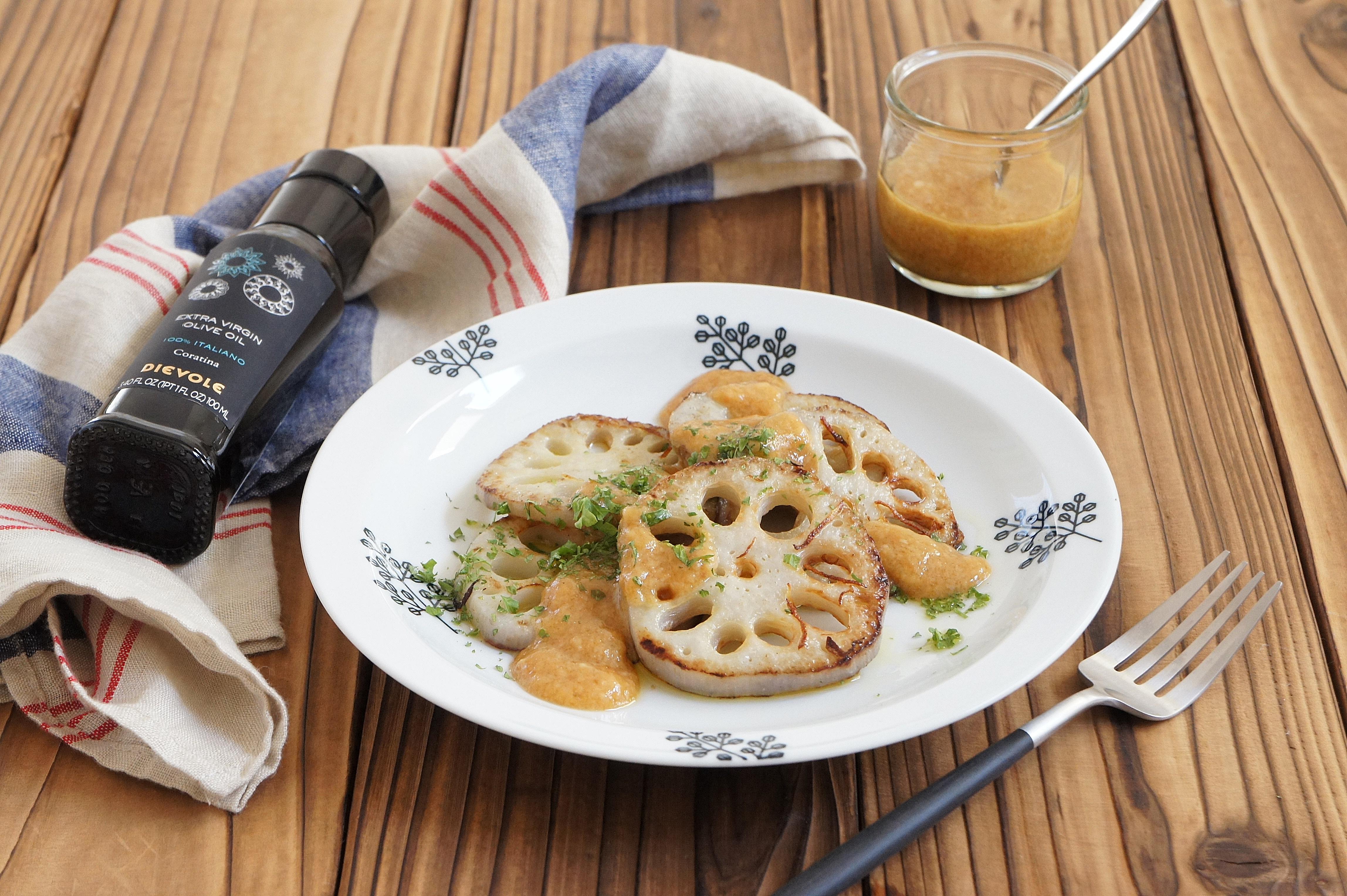 【レシピ掲載】感動オリーブオイル「れんこんソテー味噌オイルソースで」&長男の文化祭